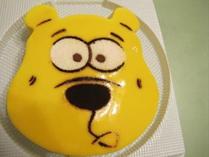 慕斯蛋糕(6寸/1磅),味道很好,蛋糕的样子很可爱——是一只笨笨的熊