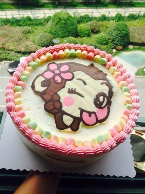 小猴子的造型的蛋糕