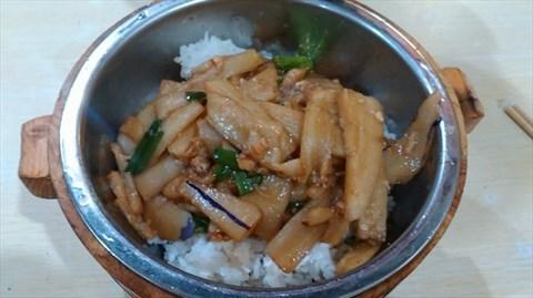 鱼香茄子饭 - 布吉的湘赣木桶饭)