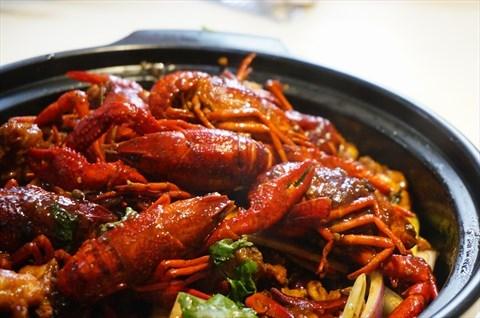 小龙虾麻辣鸡煲 - 广州公园前的大龙凤第一鸡煲    开